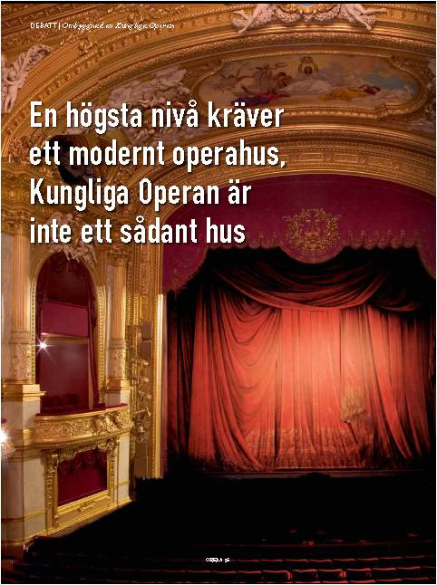 Debatt - Operahus i Stockholm